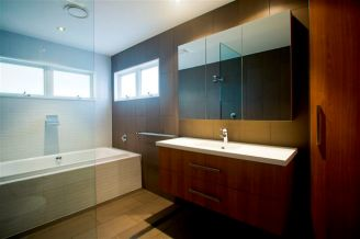 custom bathroom cabinet timber and white 2