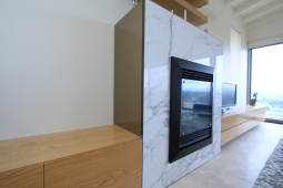 custom joinery entertainment unit fireplace