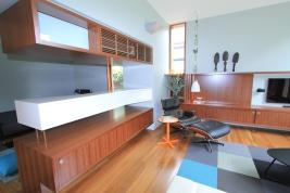 custom joinery entertainment unit shelving lounge room