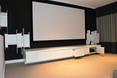 custom joinery media room
