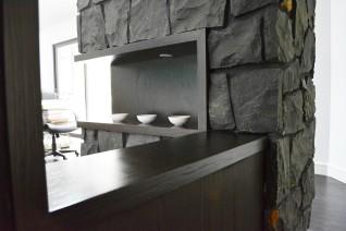 custom joinery shelving nook
