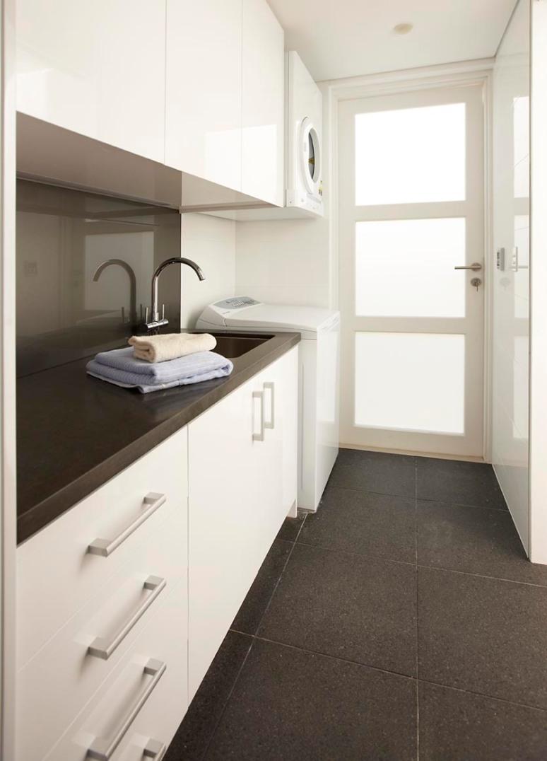 custom joinery white laundry 2