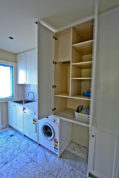 custom joinery white laundry 3