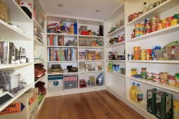custom kitchen walk in pantry
