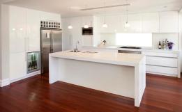 custom kitchen white gloss
