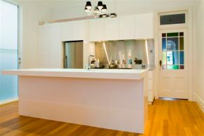 custom kitchen white