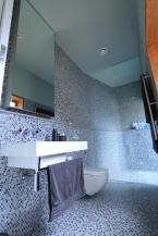 custom shaving cabinet mosaic